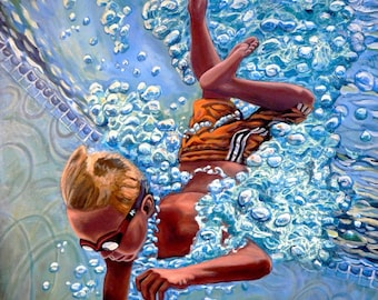 The Plunge no.1 - Original Stillman Giclee on Stretched Canvas, 15 x 20 x 1.5 in.