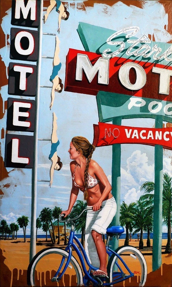 Gallery Quality Stretched Canvas Giclee, Starlite Beach 1, Stillman 15 x 25 x 1.5
