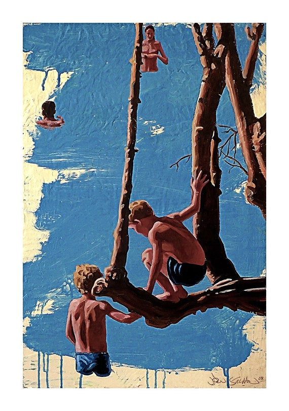The Swimming Tree-Giclee-Stillman-12x16in.-ABC's Modern Family
