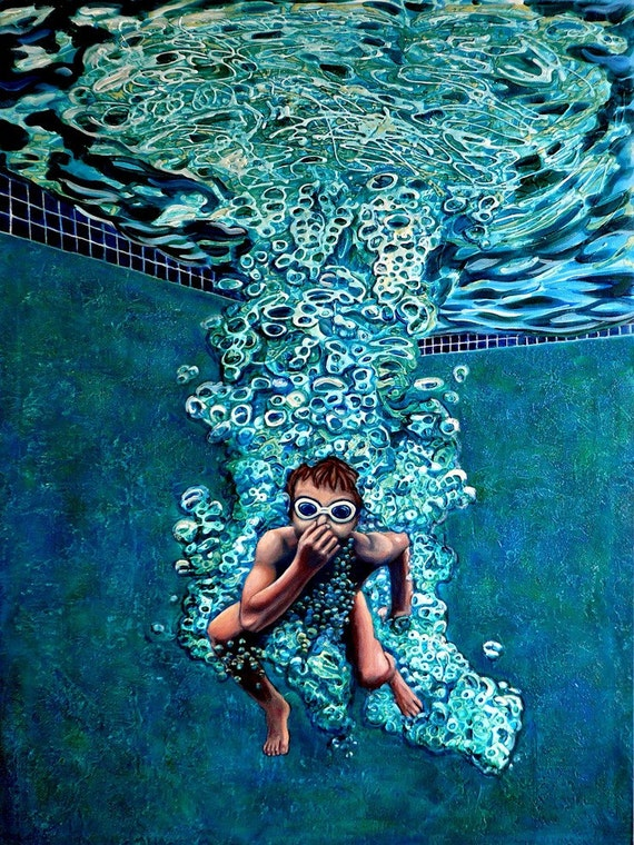 The Plunge no.3 - Original Stillman Giclee on Stretched Canvas, 15 x 20 x 1.5 in.
