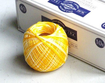 SALES - 15% OFF - Lace Crochet Cotton Thread - Olympus Gold Label 40 - col.55 Variegated Orange - 1 ball - 10g/89m