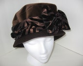 Brown Velveteen \/Felt Sofie Hat