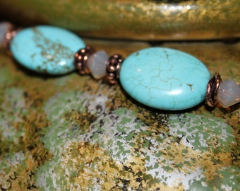 Turquoise and Copper Pendant
