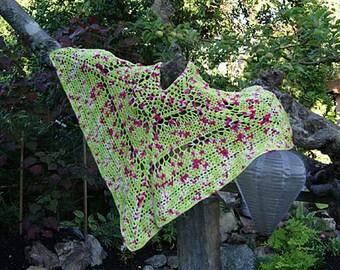 Sock Yarn Shawl - Crochet Pattern