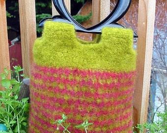 Felted Colourwork Bag - Crochet Pattern