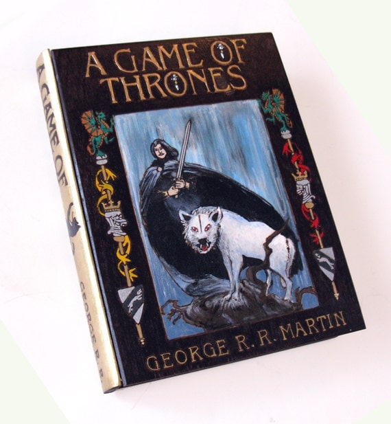 RESERVE- Game of Thrones hideaway book box - unique and hand-decorated.