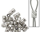 Crimps, Sterling Silver Twisted Cyclone Crimps, 3mm Quantity 40 TWC019SS BS
