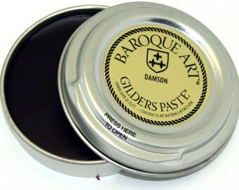 Gilders Paste, Patina Paste, This Color is Called DAMSON, comes with a Free Horse Hair Applicator Brush
