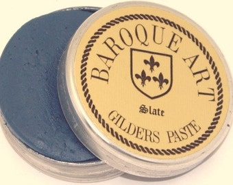 Gilders Paste, Patina Paste, This Color is Called SLATE, comes with a Free Horse Hair Applicator Brush