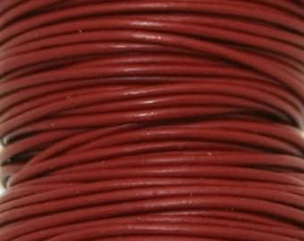 Greek Leather, Garnet, 1mm 5 yards