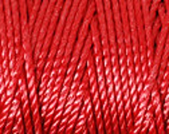 Shanghai Red C-Lon Tex 400 Beading Cord 43 Yards