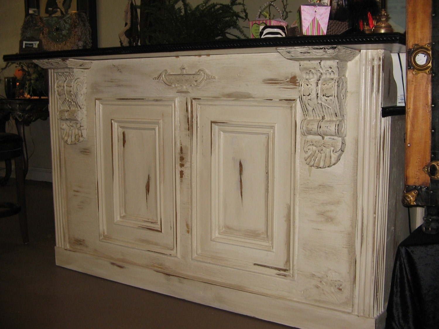tuscan/ french: bar retail counter / reception desk kitchen
