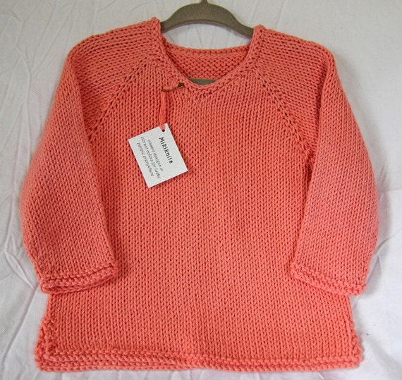 Luxury Toddler Sweater - Light Coral Tunic