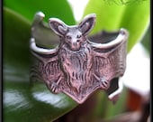 Silver Bat Ring // Gothic Ring  // Bat Jewelry // Bat Gift // Sterling SIlver Plated Brass
