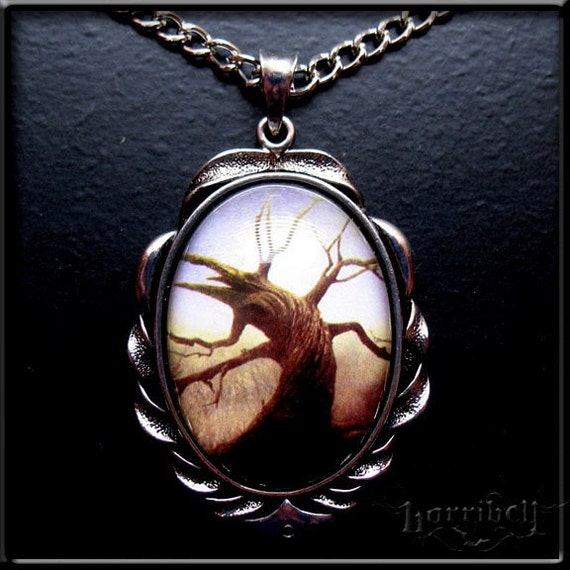RESERVED- Tree of the Dead Necklace - SEPIA