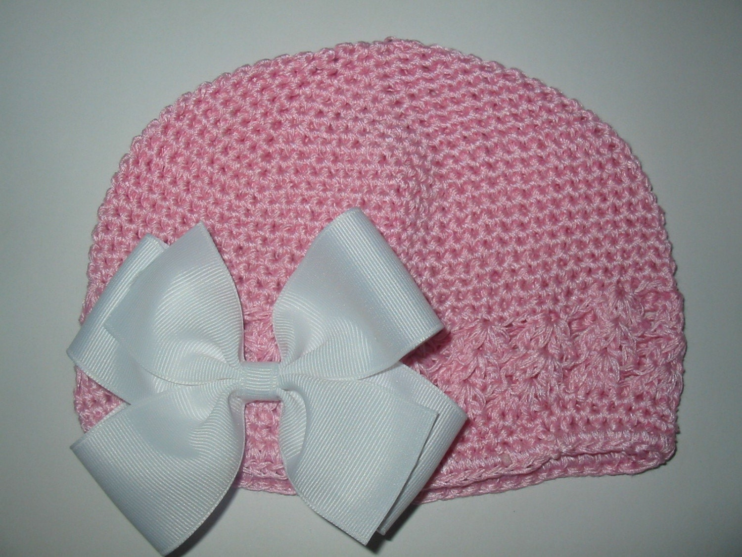 Kufi Beanie Hat Crochet Pattern : NEW INFANT Pink Crochet Kufi Beanie Hat with Interchangeable