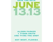 25 Modern Save the Date Magnets CUSTOM in any colors