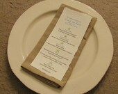 Beach wedding menu for wedding reception dinner