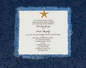 Starfish and Handmade Mulberry Paper Invitations
