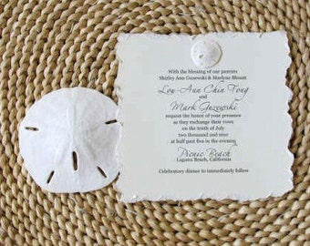 Sand Dollar Wedding Invitations for your BEACH or destination wedding