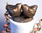Personalized Love Bird Wedding Cake Topper
