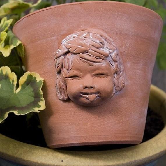Cheeky Cherub Terra Cotta Planter