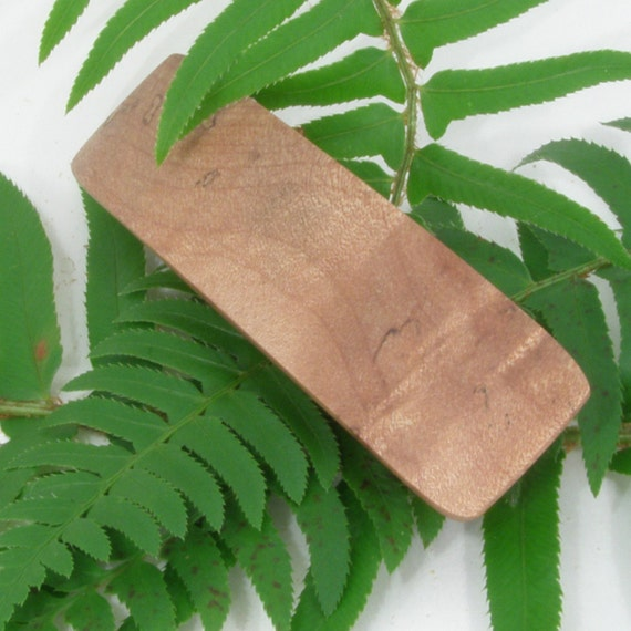 Maple Wood Small Hair Clip, Wooden Hair Accessory, Figured Maple Wood Barrette