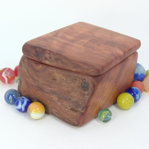 California Redwood Wooden Box, nature inspired, jewelry or treasure secret box, eco mothers day