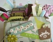Handmade Personalized Amy Butler Birthday Rolodex