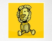 this lion is a liar - 2.6'' fridge magnet