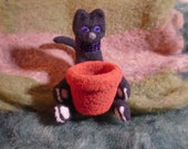 Halloween Closeout Sale - Kitty has a treat bowl