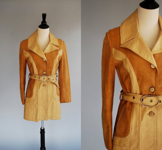 RESERVED for DIOGI Vintage tan SUEDE leather jacket / buttery soft suede coat / size 10