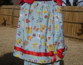 Just Beachy pillowcase dress with bloomers size 18 mos.