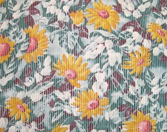 Vintage Rayon Fabric 7/8 yard 32 inches