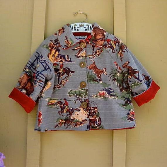 Cowboy Jacket size 3 Childrens