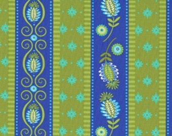 SALE - Pillow and Maxfield Gypsy Bandana Collection Road in Periwinkle 1 Yard