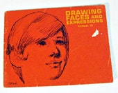 vintage book - Drawing Faces and Expressions - Victor Perard - 1950s
