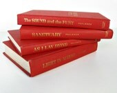 vintage instant library - red book collection - William Faulkner - set of 4 - 1920s-1930s