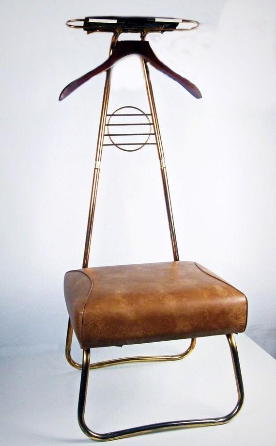 Vintage Clothing Butler Valet Chair Rack Spiegel For