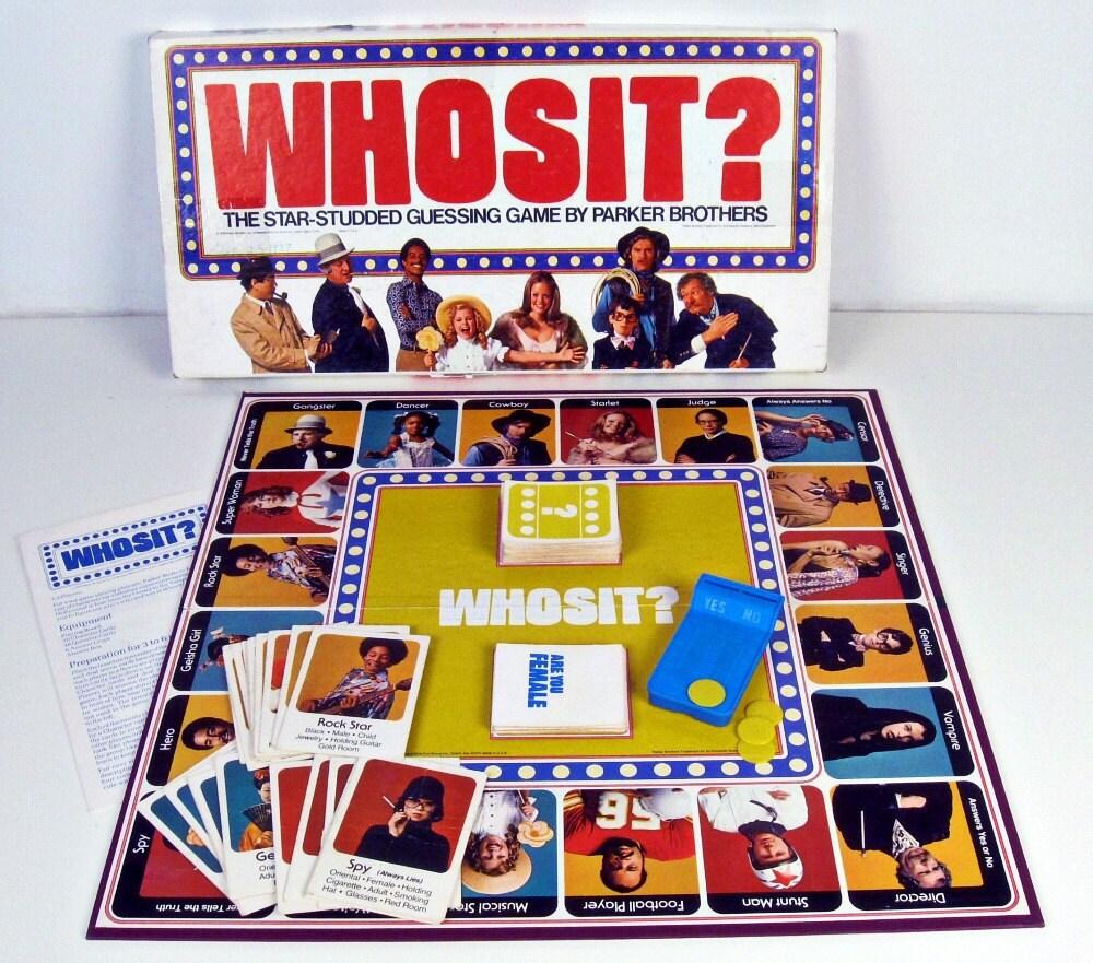 Vintage Board Game Whosit Parker Brothers 1970s