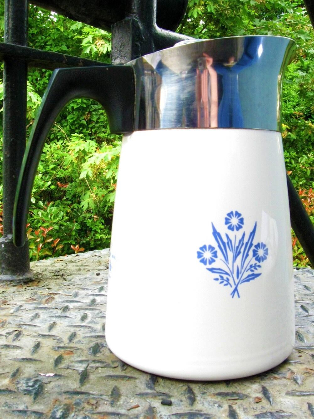 Vintage Corning Ware Coffee Pot Percolator 6 By
