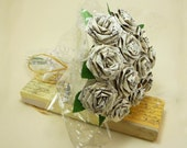Origami Music Sheet Roses (1 dozen Gift Wrapped) Anniversay Gift, Valentines day gift, Party favors
