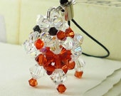 Swarovski Crystal Poodle Keychain Phone Strap (Brown Edition)