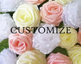 200 Origami Single Roses (Pick Your Colors / Made to Order), Origami Roses, Wedding Party Favors