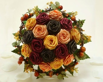 Autumn Harvest, Wedding Bouquet, Bridal Bouquet, Fall Wedding, Autumn Wedding Bouquet, Rustic Wedding, Origami Wedding Bouquet