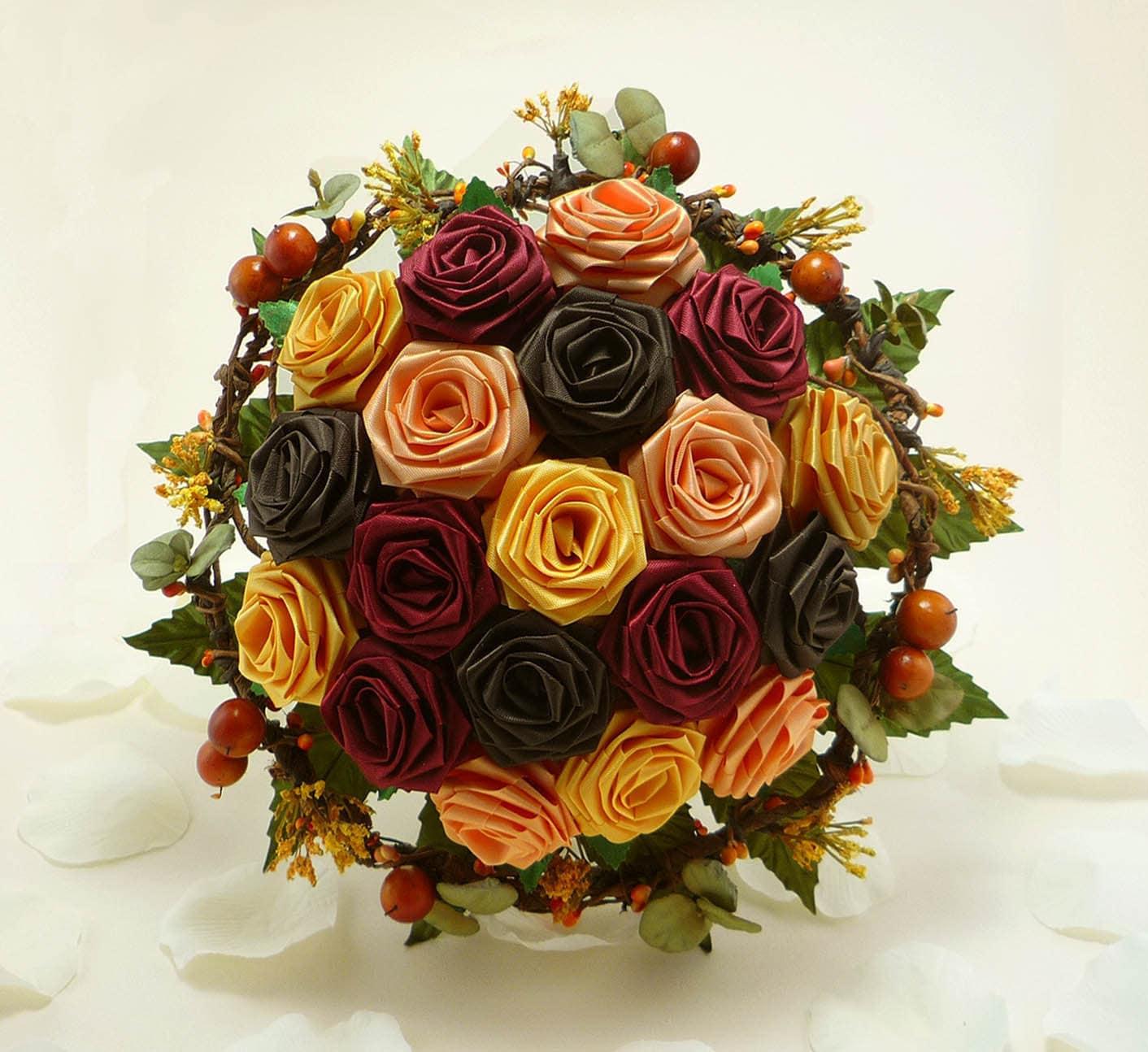 25 Autumn Inspired Wedding Flowers: Autumn Harvest Wedding Bouquet Bridal Bouquet Fall Wedding