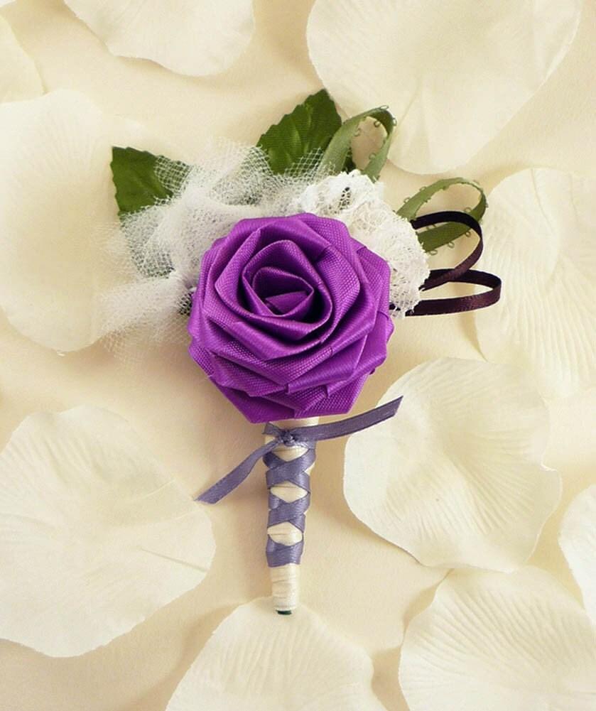 lavender boutonniere - photo #34