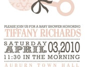 custom  baby or bridal shower invitation - western baby.