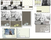 custom photoshop files for photograpers - save the date bundle.