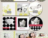 cd/dvd templates - 4 cd cases and 6 cd labels fully layered photoshop files - mixed media